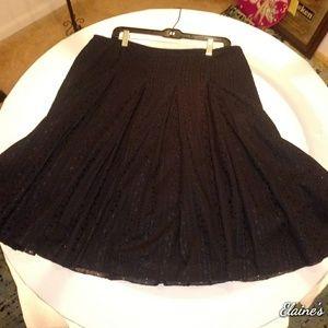 Alfani Black Pleated Skirt
